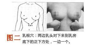 丰胸按摩手法乳根穴按摩